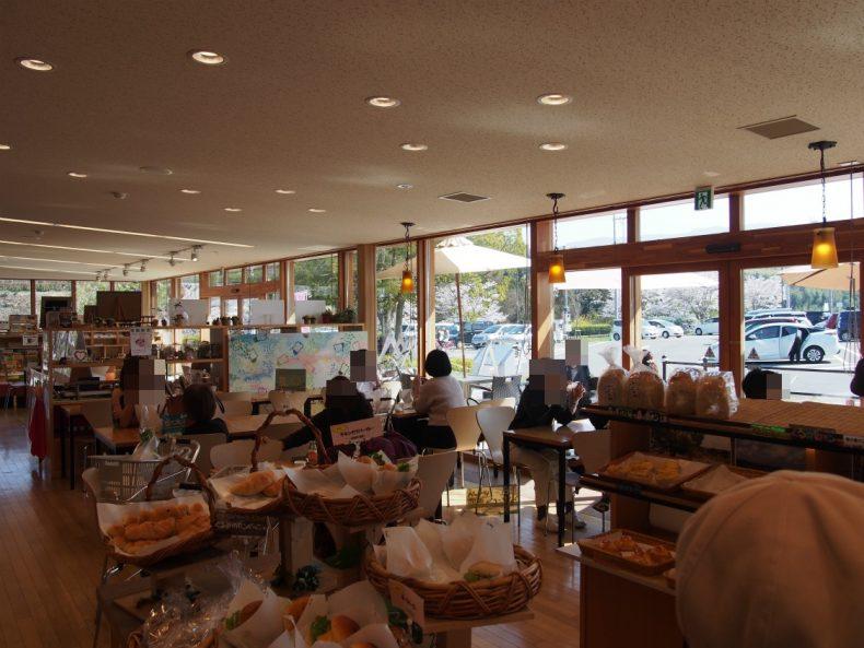 奥河内くろまろの郷 パン工房のカフェ