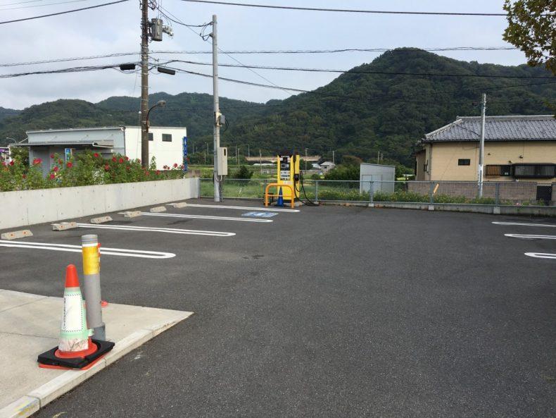 保田小学校 EV充電エリア